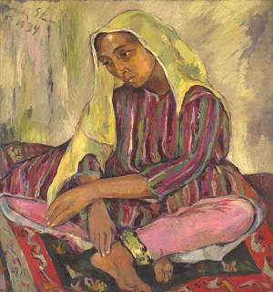 Strauss & Co art auction world record Irma Stern Meditation Zanzibar