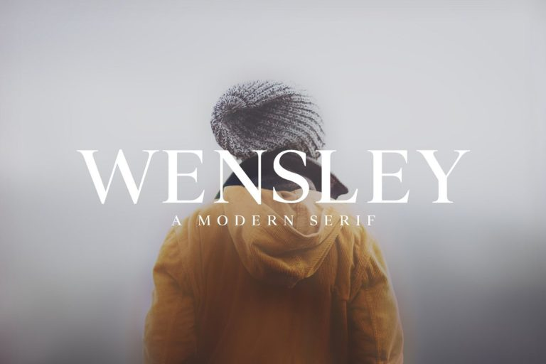 Preview image of Wensley Modern Serif Font Family
