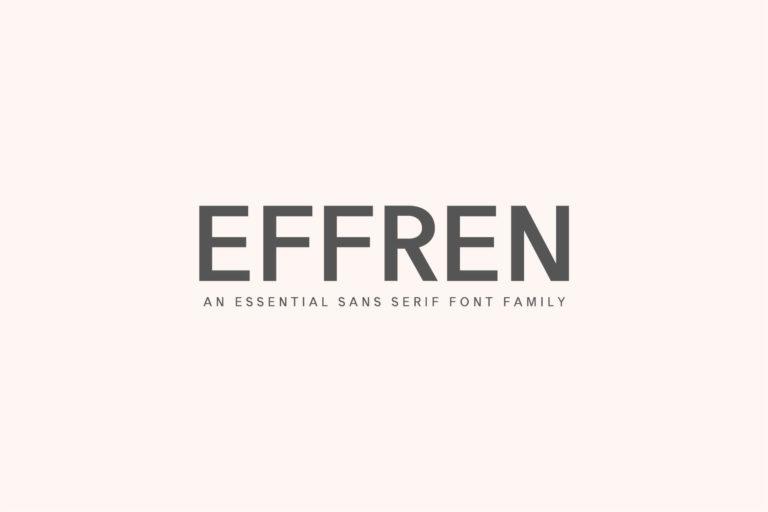 Preview image of Effren An Essential Sans Serif Font Family
