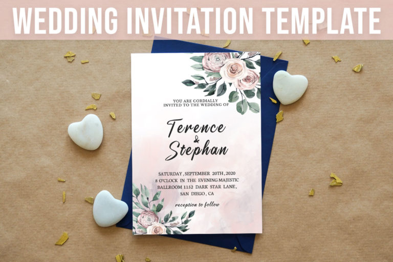 Preview image of Floral Wedding Invitation Template