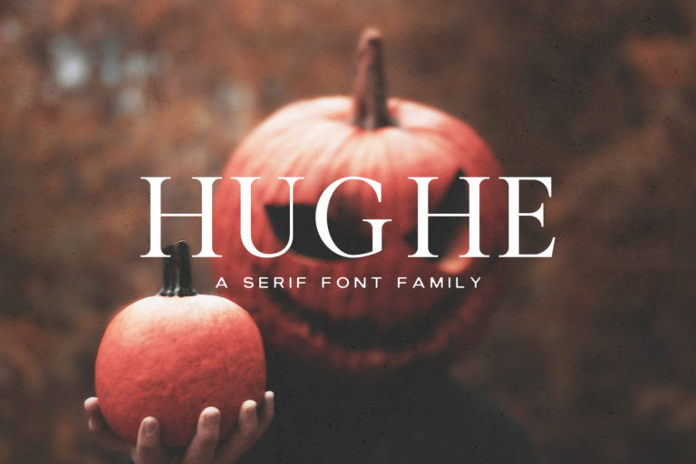Preview image of Hughe Serif Font Family