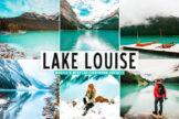 Last preview image of Lake Louise Mobile & Desktop Lightroom Presets
