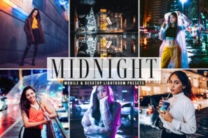 Midnight Mobile & Desktop Lightroom Presets