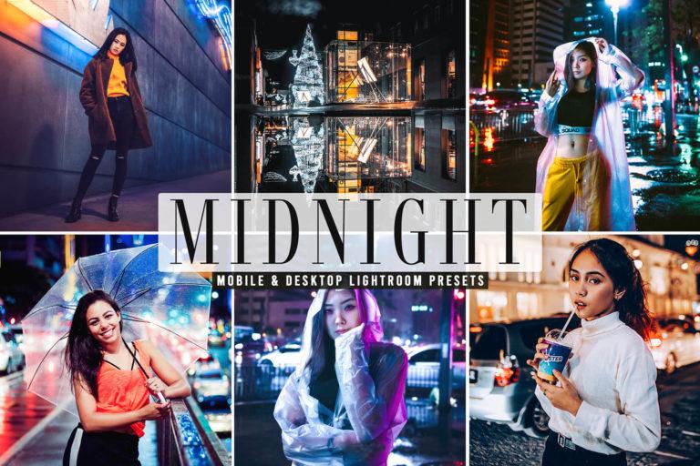 Preview image of Midnight Mobile & Desktop Lightroom Presets