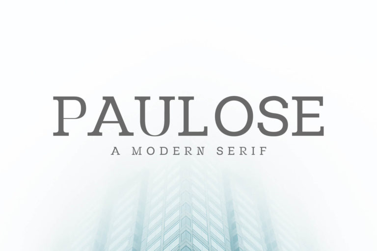 Preview image of Paulose Modern Serif Font Family