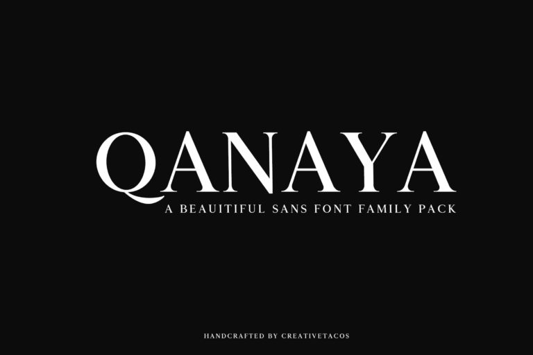 Preview image of Qanaya Serif Font Family Pack