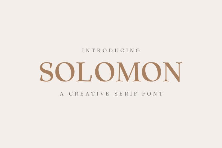 Preview image of Solomon Serif Font Family
