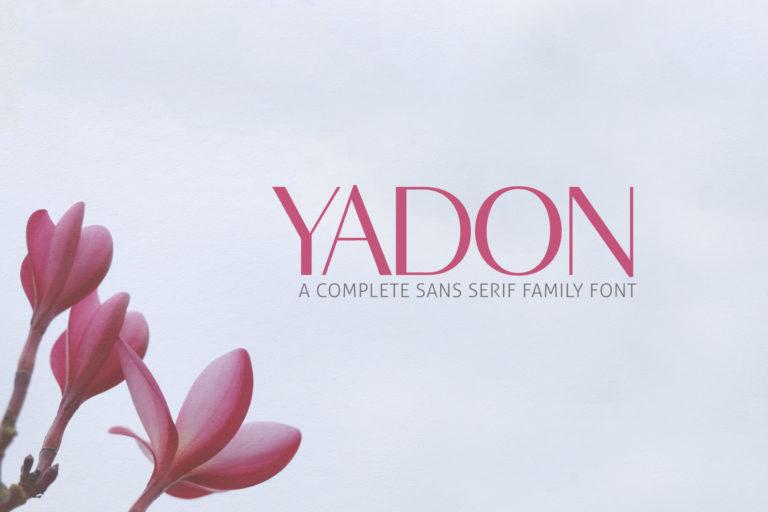 Preview image of Yadon Sans Serif Fonts Family Pack