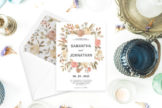 Last preview image of Dusty Rose Wedding Invitation Template