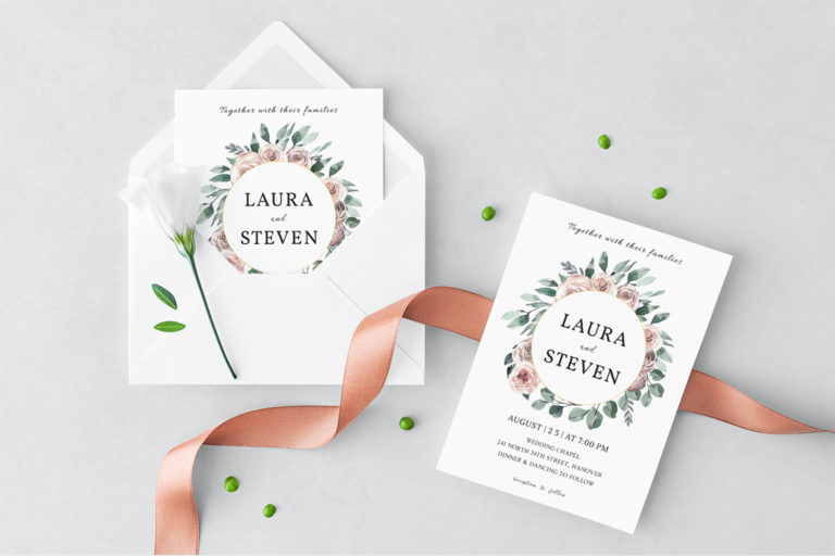 Preview image of Wedding Wreath Wedding Invitation Template