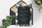 Last preview image of Elegant Floral Wedding Invitation Template