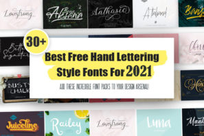 picture of 30+ Best Free Hand Lettering Style Fonts For2021