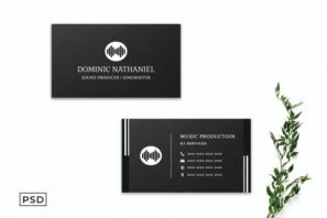 Black Creative Business Card Template