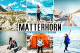 Last preview image of Matterhorn Mobile & Desktop Lightroom Presets