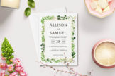 Last preview image of Green Leaves Wedding Invitation Template V2