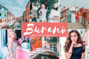 Burano Mobile & Desktop Lightroom Presets