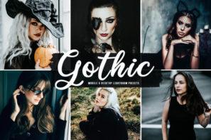 Gothic Mobile & Desktop Lightroom Presets