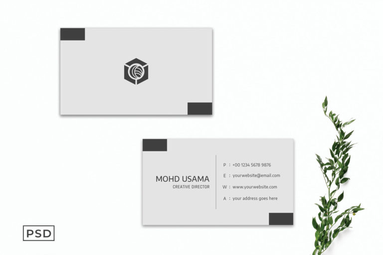 Preview image of Grey Creative Minimalist Business Card Template