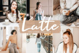 Last preview image of Latte Mobile & Desktop Lightroom Presets