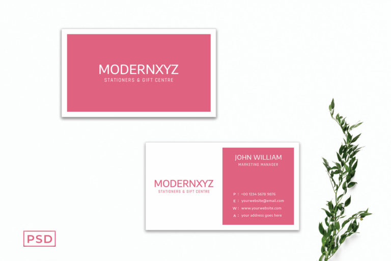 Preview image of Pink Business Card Template