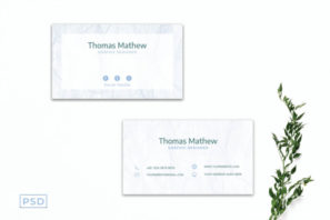 White Innovative Minimal Business Card Template