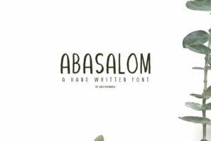 Abasalom | A Handwritten Font