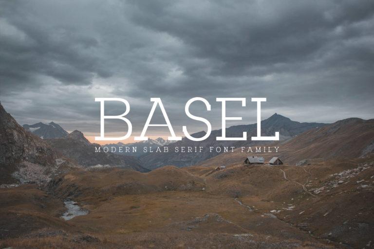 Preview image of Basel Slab Serif Font Family
