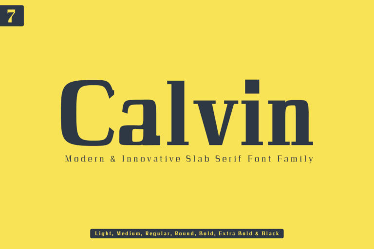 Preview image of Calvin Slab Serif Font Family