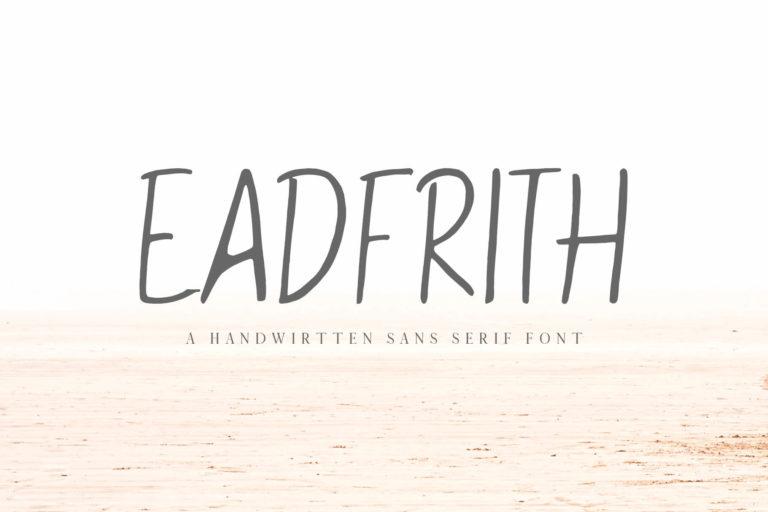 Preview image of Eadfrith Handwirtten Sans Serif Font
