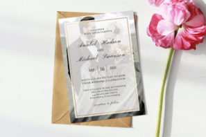 Modern Wedding Photo Invitation Template