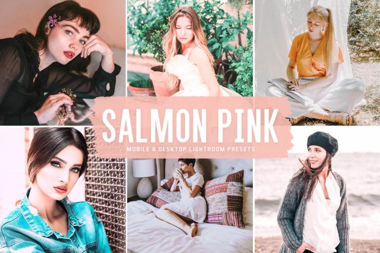 Preview image of Salmon Pink Mobile & Desktop Lightroom Presets