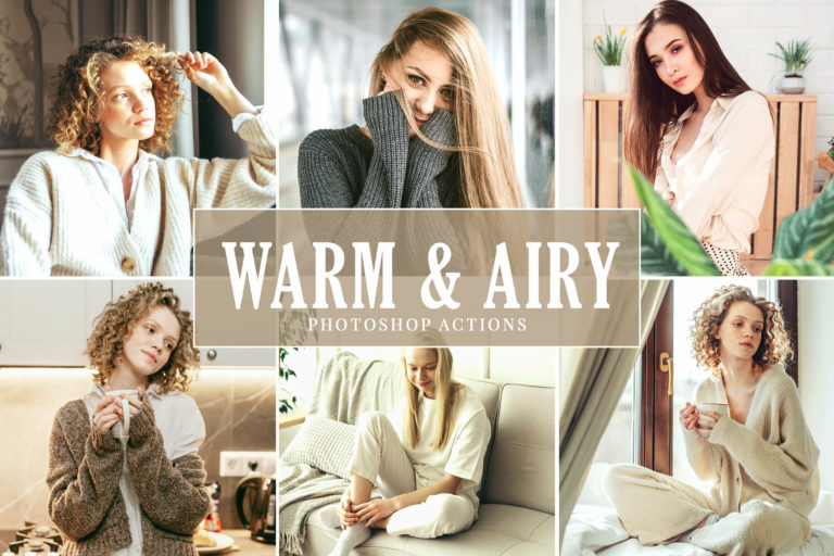Preview image of Warm & Airy Photoshop Actions Pack