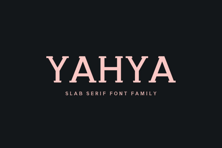 Preview image of Yahya Slab Serif Font Family