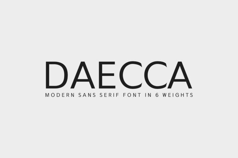 Preview image of Daecca Sans Serif Font Family