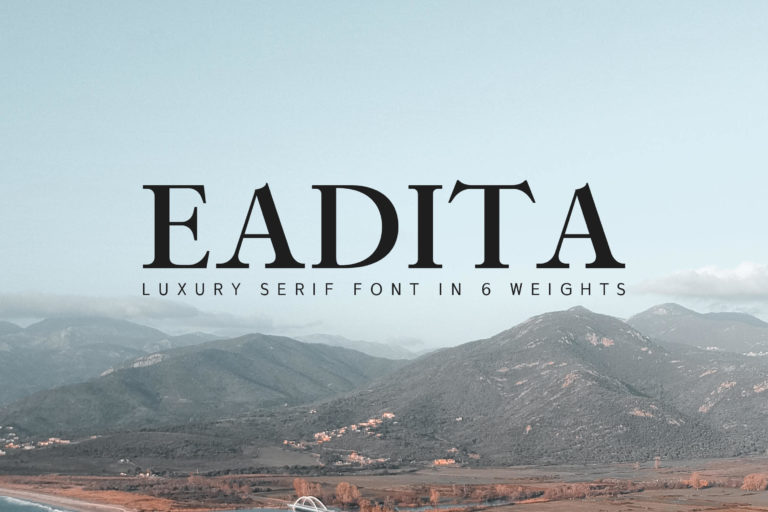 Preview image of Eadita Luxury Serif Font Family