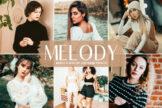 Last preview image of Melody Mobile & Desktop Lightroom Presets