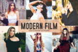 Last preview image of Modern Film Photoshop Actions
