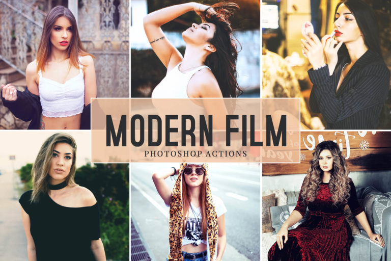 Preview image of Modern Film Photoshop Actions