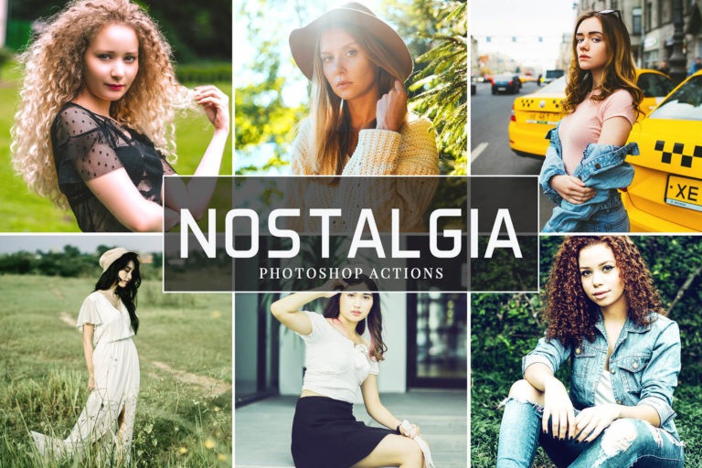 Preview image of Nostalgia Photoshop Actions