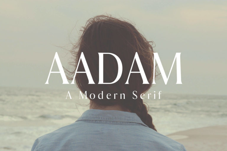 Preview image of Aadam Modern Serif Font Family