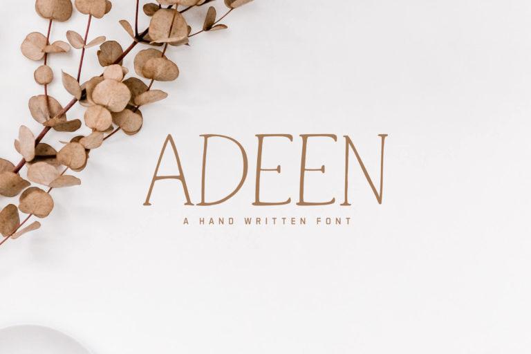 Preview image of Adeen Handwritten Font