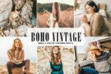 Last preview image of Boho Vintage Mobile & Desktop Lightroom Presets