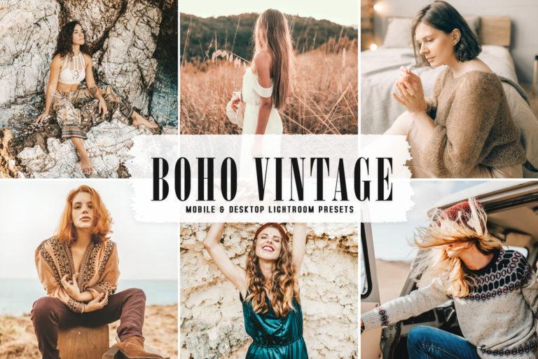 Preview image of Boho Vintage Mobile & Desktop Lightroom Presets