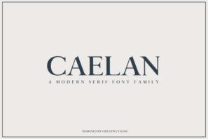Caelan Serif Font Family