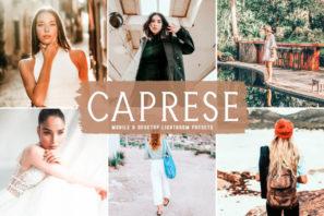 Caprese Mobile & Desktop Lightroom Presets