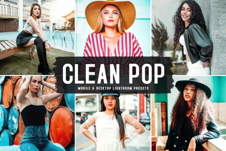 Preview image of Clean Pop Mobile & Desktop Lightroom Presets