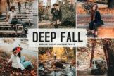 Last preview image of Deep Fall Mobile & Desktop Lightroom Presets