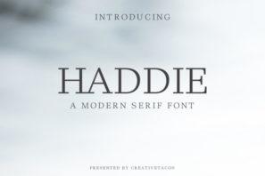 Haddie Modern Serif Font