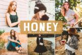Last preview image of Honey Mobile & Desktop Lightroom Presets