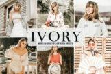 Last preview image of Ivory Mobile & Desktop Lightroom Presets